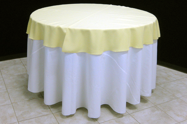 Something is. Canopy table cover